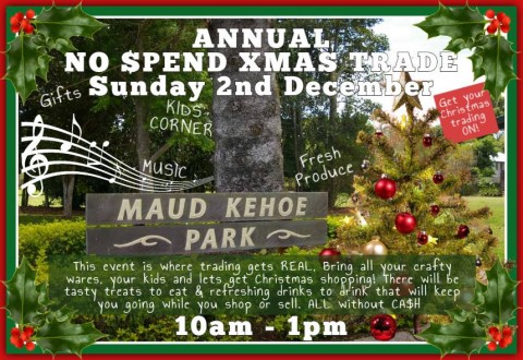 NO $PEND x-mas Trade – Yungaburra – 2 December. The 4th of four large trade events in 2018